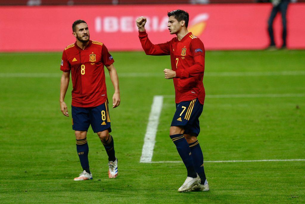 Koke and Morata celebrate