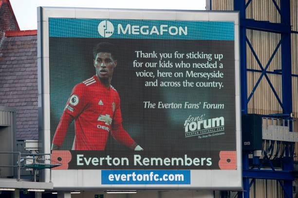 A message from the Everton Fan's Forum to Rashford
