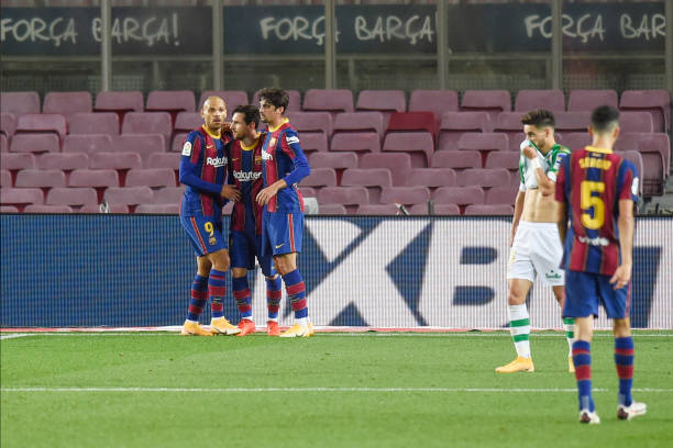 Barcelona 5-2 Real Betis: Messi nets double from bench