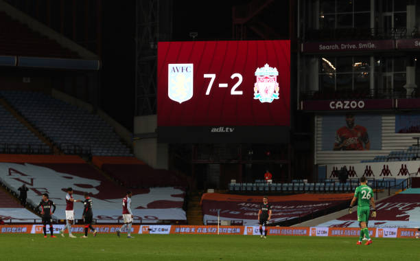 One of the biggest shocks in Premier League history as Aston Villa hit Liverpool for seven,