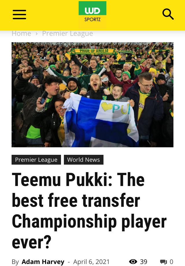 Football star Pukki