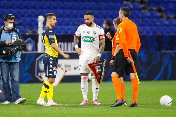 Football players for Lyon and Monaco