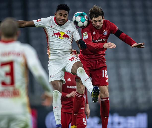 The last football match between Leipzig and Bayern Munich