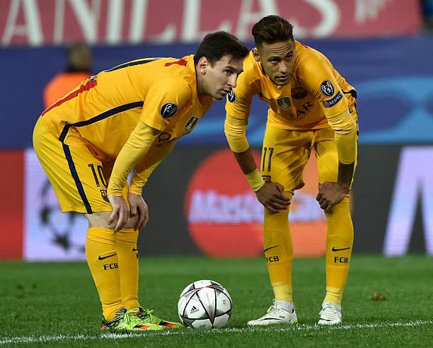Lionel Messi and Neymar Jr