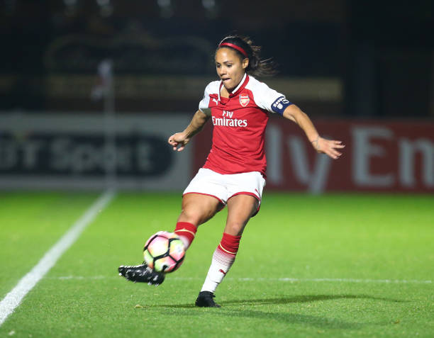 Alex Scott as Arsenal captain.