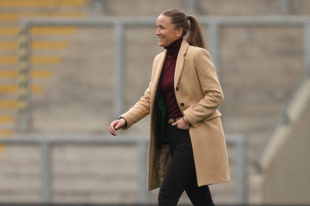 Manchester United's former manager Casey Stoney