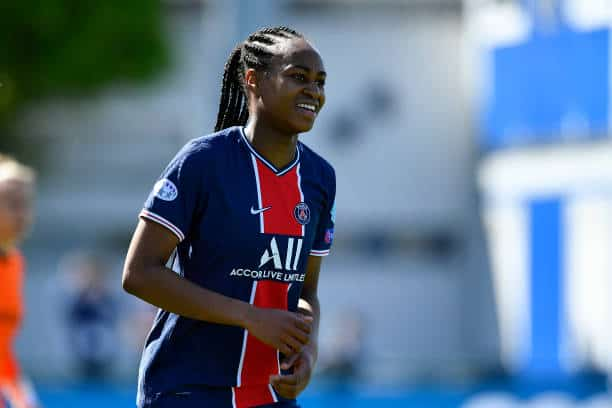 PSG star Mario-Antoinette Katoto, will she be the difference tomorrow against Lyon? (Photo by Aurelien Meunier - PSG/PSG via Getty Images)