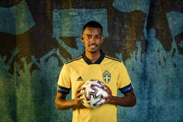 Real Sociedad forward Alexander Isak goes into Euro 2020 in a rich vein of form (Photo by Jonathan Nackstrand/UEFA via Getty Images)