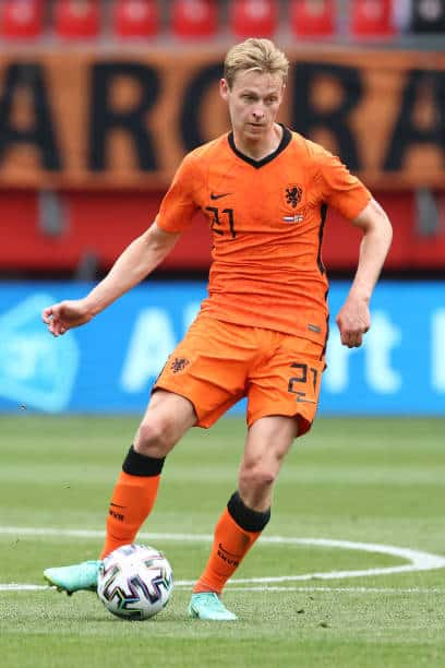 Frenkie De Jong had a tough season with Barcelona and a similar summer could be instore for him at Euro 2020 given that Netherlands' manager is Frank De Boer (Photo by Mika Volkmann/Getty Images)
