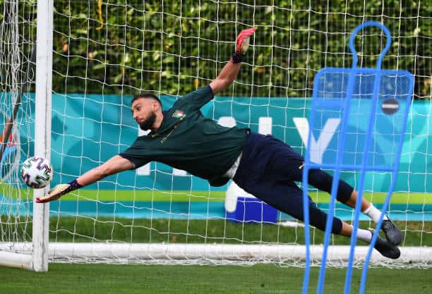 Gigi Donnarumma is under the microscope going into Euro 2020 regarding his departure from Milan (Photo by Claudio Villa/Getty Images)