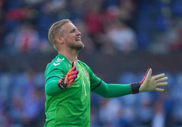 Leicester and Denmark goalkeeper Kasper Schmeichel could be key for the dark horses at Euro 2020 (Photo by Ulrik Pedersen/NurPhoto via Getty Images)